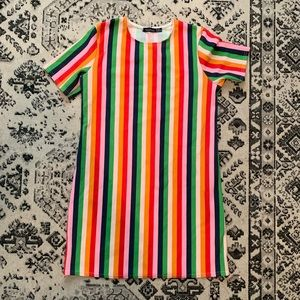 ASOS Rainbow Stripe Shift Dress 6